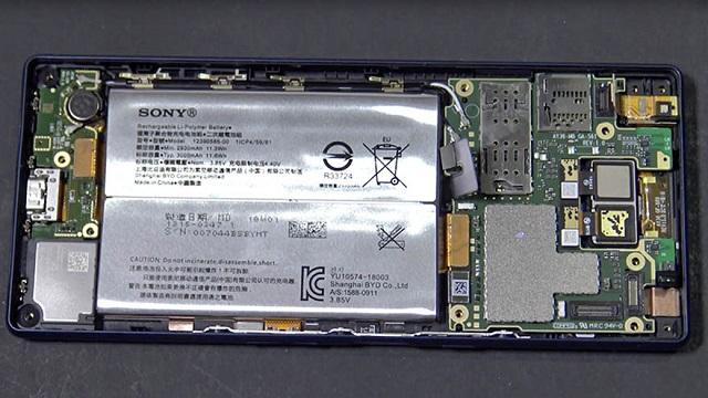 جدا سازی قطعات گوشی اکسپریا 10 +