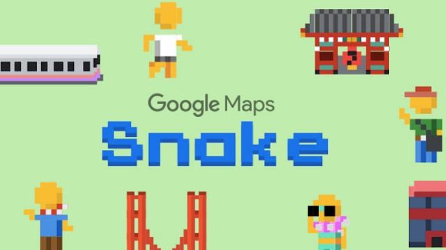 بازی مار در گوگل مپ