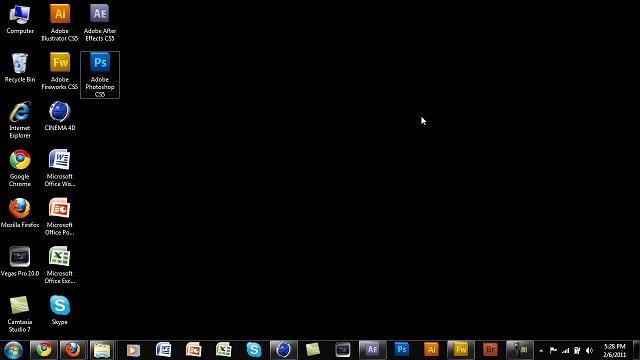 تصویر زمینه سیاه در ویندوز 7