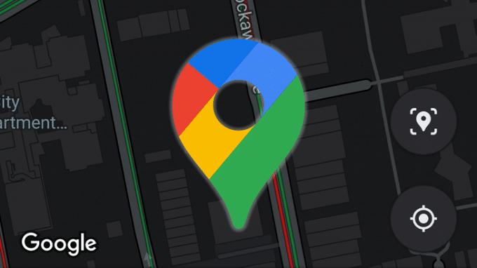 حالت تاریک برای گوگل مپ