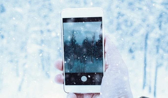 اضافه کردن انیمیشن برف به تصاویر و ویدیو